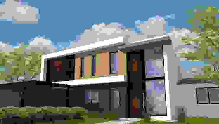 FACHADA PRINCIPAL Galerías y espacios comerciales de estilo moderno de Estudio 3 Moderno Madera Acabado en madera