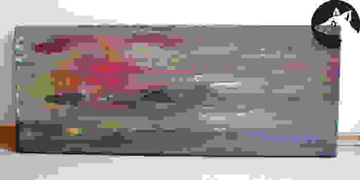 YOGA NIDRA, Original, Acryl auf Leinwand: modern  von Little Walking Wolf,Modern