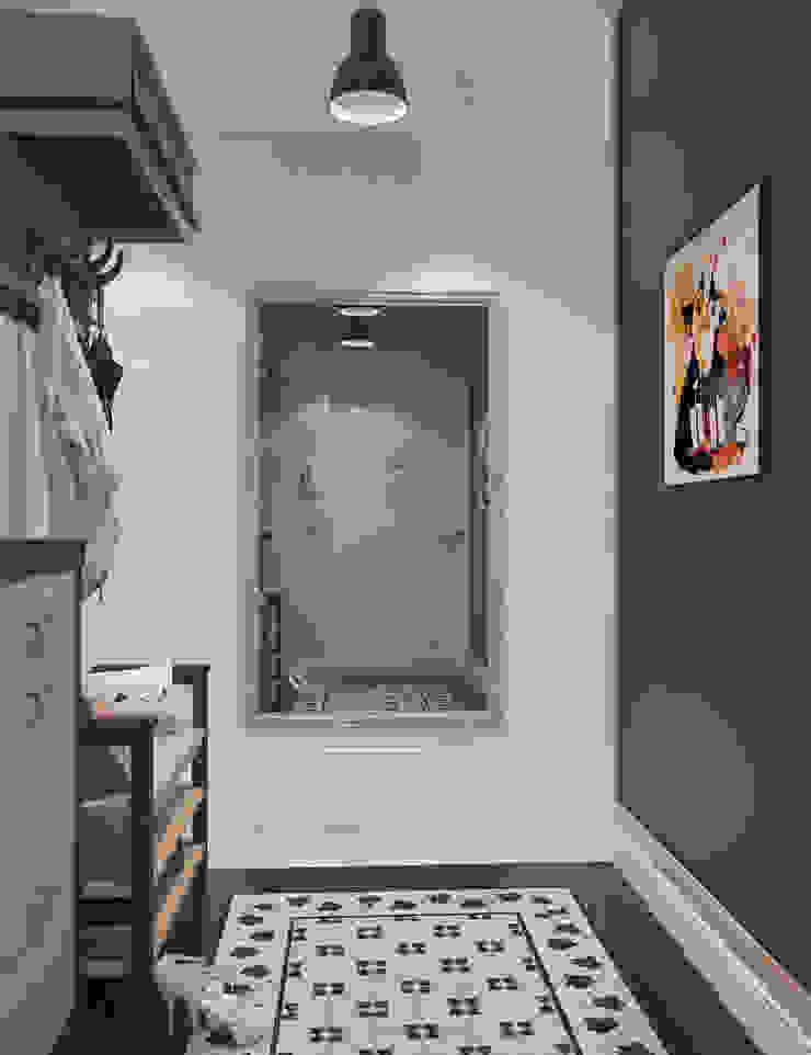 Визуализации Интерьера в скандинавском стиле Коридор, прихожая и лестница в скандинавском стиле от Alyona Musina Скандинавский