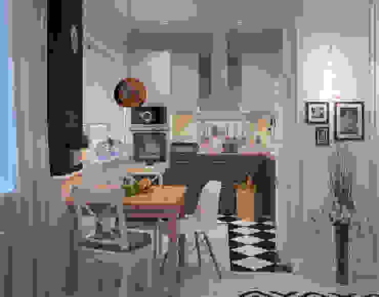 Визуализации Интерьера в скандинавском стиле Кухня в скандинавском стиле от Alyona Musina Скандинавский
