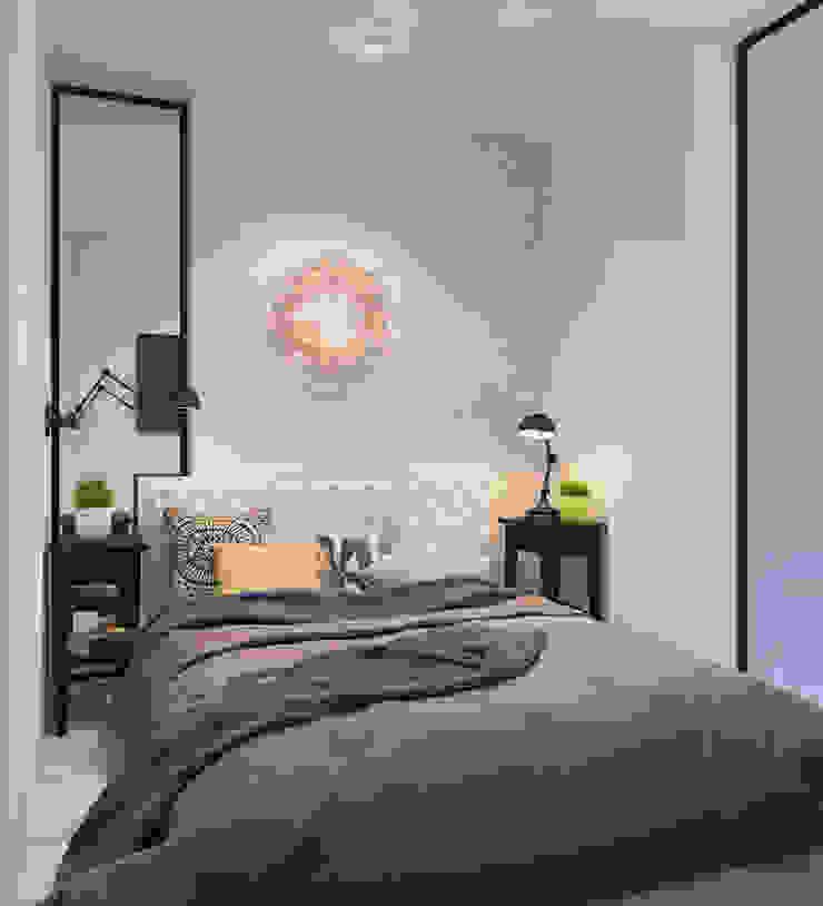 Визуализации Интерьера в скандинавском стиле Спальня в скандинавском стиле от Alyona Musina Скандинавский