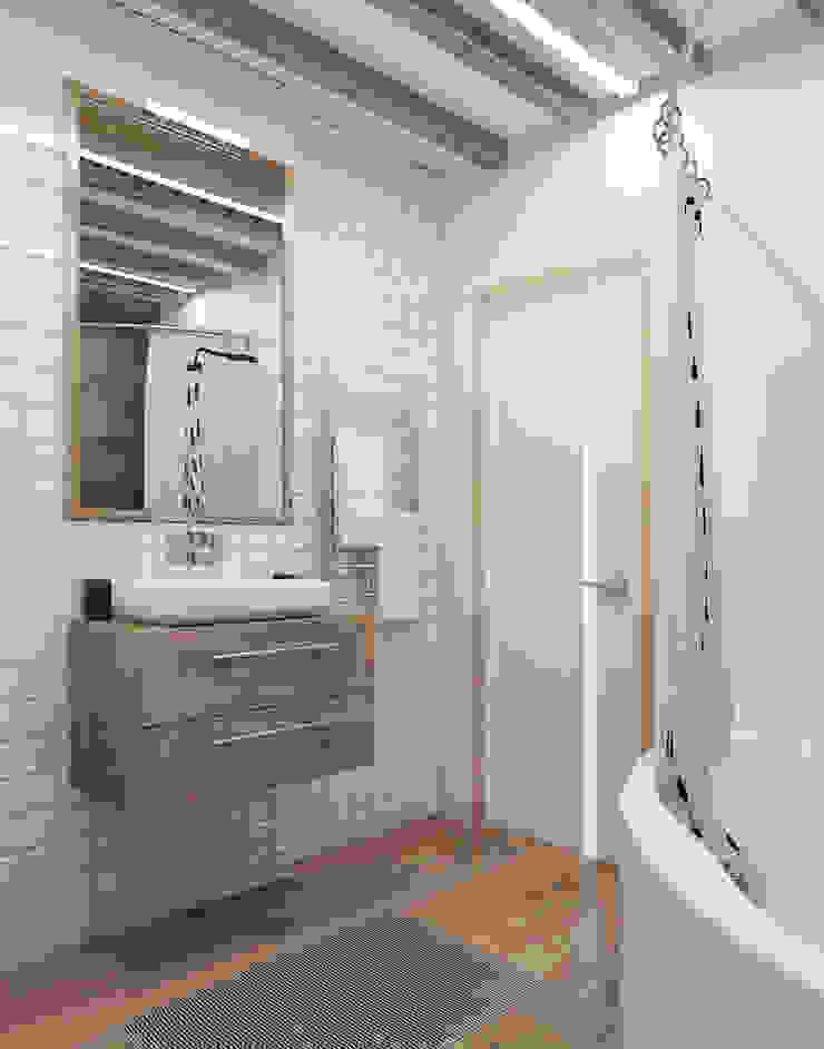 Визуализации Интерьера в скандинавском стиле Ванная комната в скандинавском стиле от Alyona Musina Скандинавский
