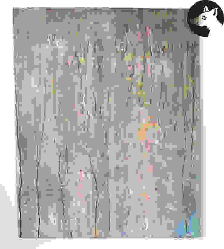 ZAUERWALD, Original, Acryl auf Leinwand: modern  von Little Walking Wolf,Modern