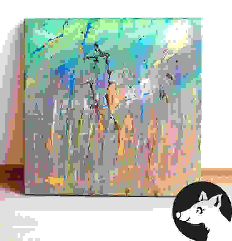 GOLDWIRBEL, Original, Acryl auf Leinwand: modern  von Little Walking Wolf,Modern