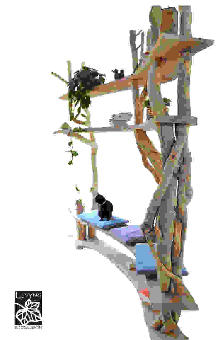 Livyng Ecodesign ВітальняПолиці Дерево Дерев'яні