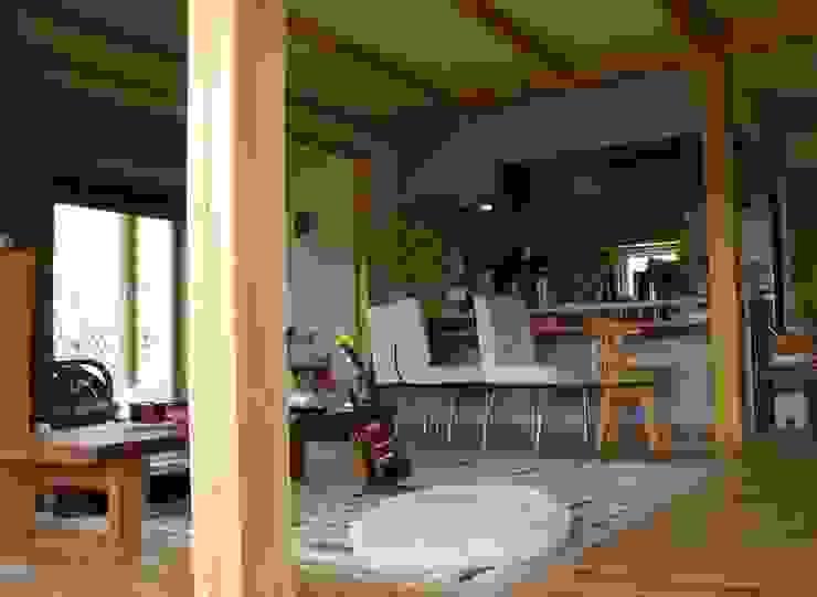 岐阜県多治見市 和風デザインの ダイニング の 株式会社タマゴグミ 和風 木 木目調