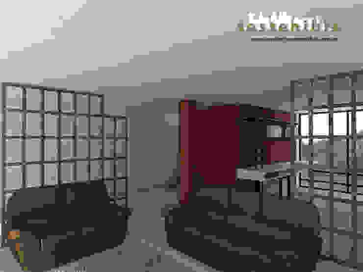 Casa Coyoacán Salones modernos de ARQUITECTURA SOSTENIBLE Moderno