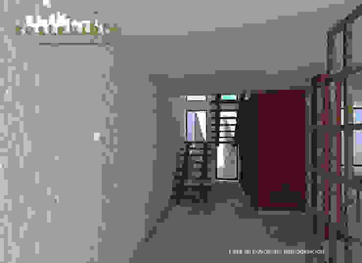 Casa Coyoacán: Pasillos y recibidores de estilo  por ARQUITECTURA SOSTENIBLE,