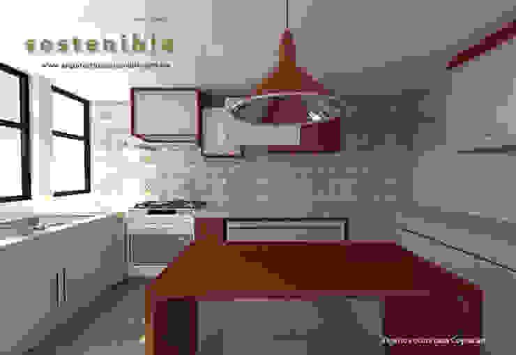 Casa Coyoacán Cocinas modernas de ARQUITECTURA SOSTENIBLE Moderno