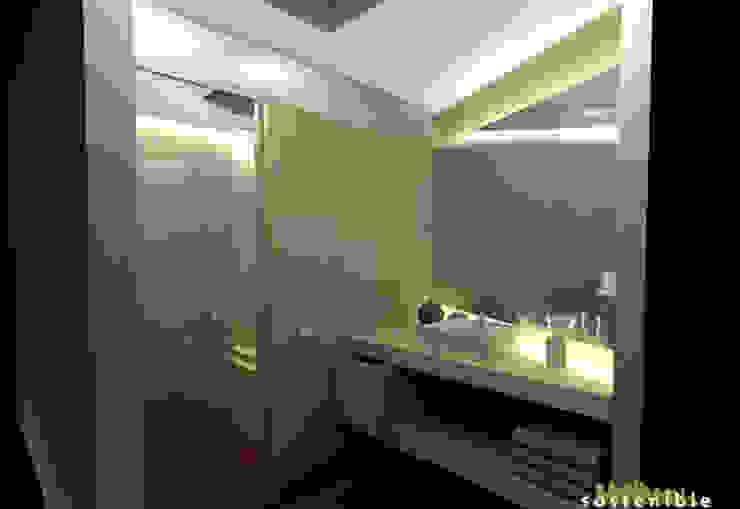 Casa Coyoacán Monserrat Baños modernos de ARQUITECTURA SOSTENIBLE Moderno