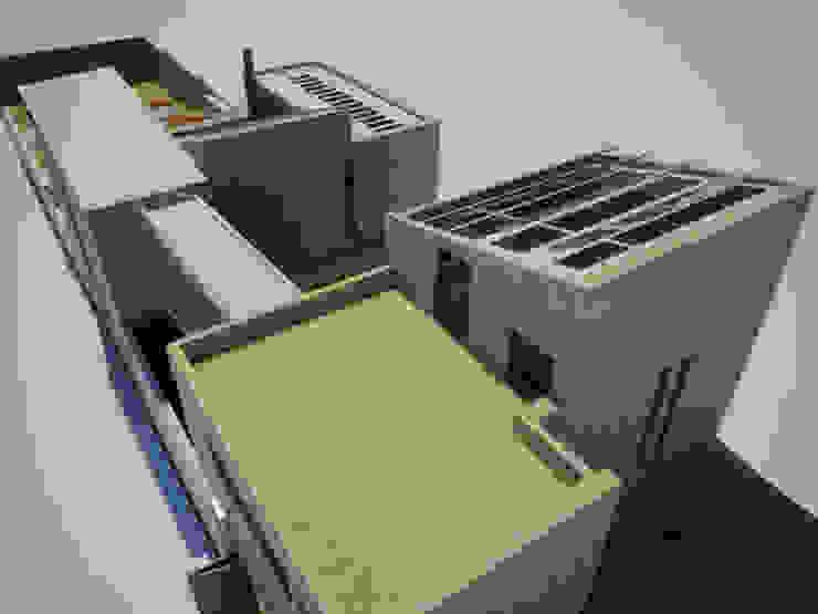Casa Metepec Balcones y terrazas modernos de ARQUITECTURA SOSTENIBLE Moderno