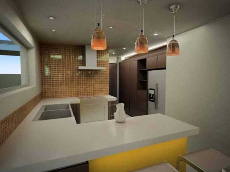 Casa Metepec Cocinas modernas de ARQUITECTURA SOSTENIBLE Moderno