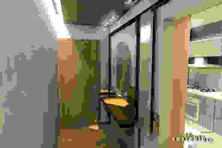 Departamento del Valle Коридор, прихожая и лестница в модерн стиле от ARQUITECTURA SOSTENIBLE Модерн