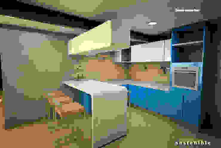 Departamento Colonia del Valle 2 Cocinas modernas de ARQUITECTURA SOSTENIBLE Moderno