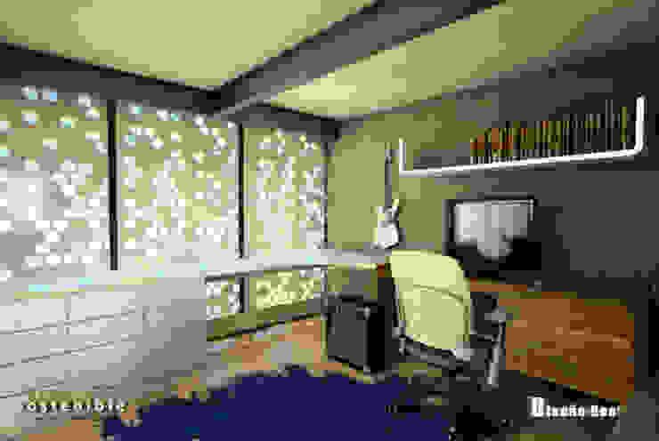 Departamento Colonia del Valle 2 Estudios y despachos modernos de ARQUITECTURA SOSTENIBLE Moderno