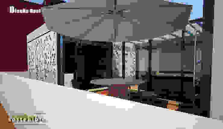 Departamento Colonia del Valle 2 Salones modernos de ARQUITECTURA SOSTENIBLE Moderno