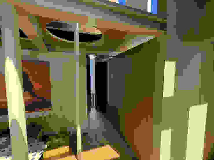 Casa Metepec Pasillos, vestíbulos y escaleras modernos de ARQUITECTURA SOSTENIBLE Moderno