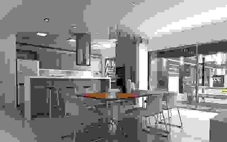 Chazarreta-Tohus-Almendra 現代廚房設計點子、靈感&圖片