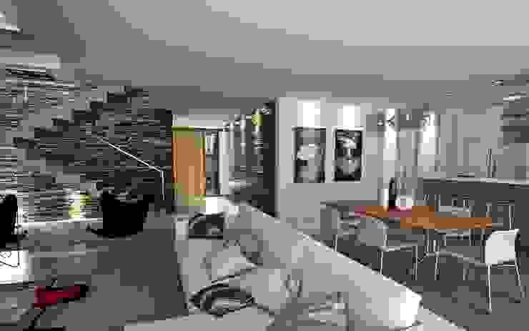 Ruang Keluarga Modern Oleh Chazarreta-Tohus-Almendra Modern