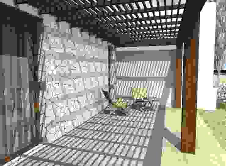 Casa La Budita Varandas, alpendres e terraços modernos por LAGOS & MIDDLETON arquitectos asociados Moderno