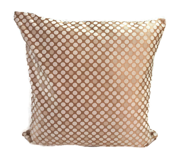 Polka Dot Double -sided Pillow Cover, 18x18 Polka Dot Decorative Throw Pillow Cover Dual Side Cushion Cover Accent Pillow Home Decor Housewares Couch Pillow: classic  by KnotnStitch,Classic Textile Amber/Gold