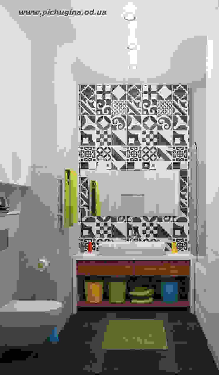 Квартира для молодой семьи Ванная комната в скандинавском стиле от Tatyana Pichugina Design Скандинавский