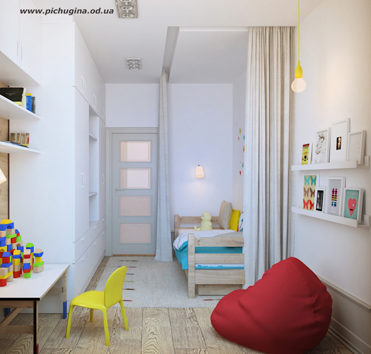 Квартира для молодой семьи Детская комнатa в скандинавском стиле от Tatyana Pichugina Design Скандинавский