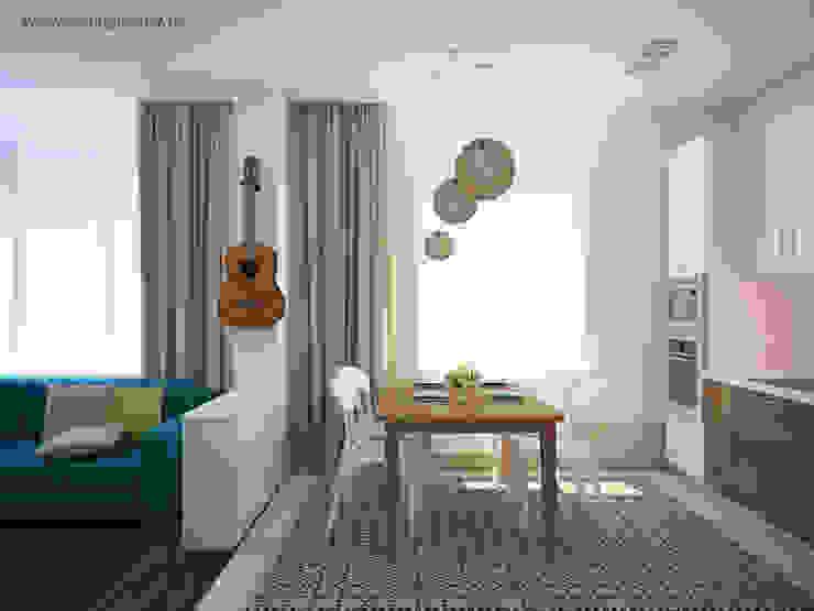 Квартира для молодой семьи Столовая комната в скандинавском стиле от Tatyana Pichugina Design Скандинавский
