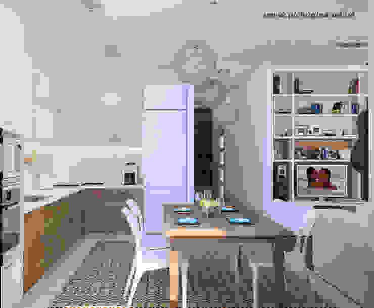 Квартира для молодой семьи Кухня в скандинавском стиле от Tatyana Pichugina Design Скандинавский