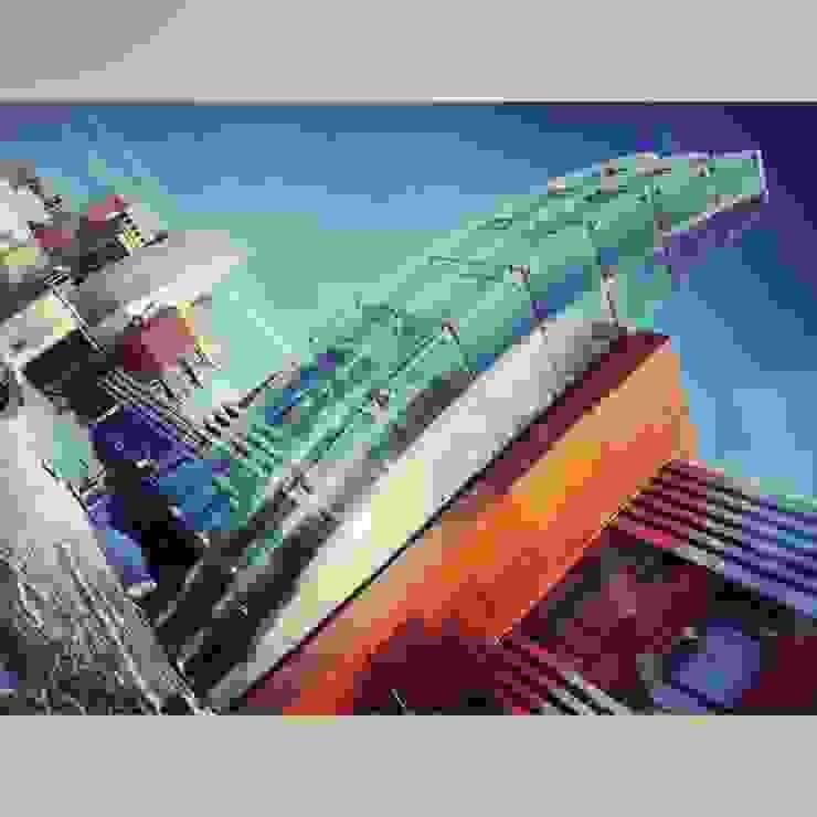 FORTOPS.RU – ДИЗАЙНЕРСКИЙ ПОСЕЛОК от DBA-GROUP - ARCHITECTURE & DESIGN STUDIO Минимализм
