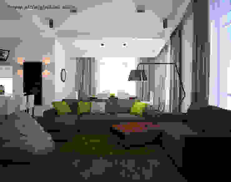 Дом, 180 м.кв. Гостиная в стиле модерн от Tatyana Pichugina Design Модерн