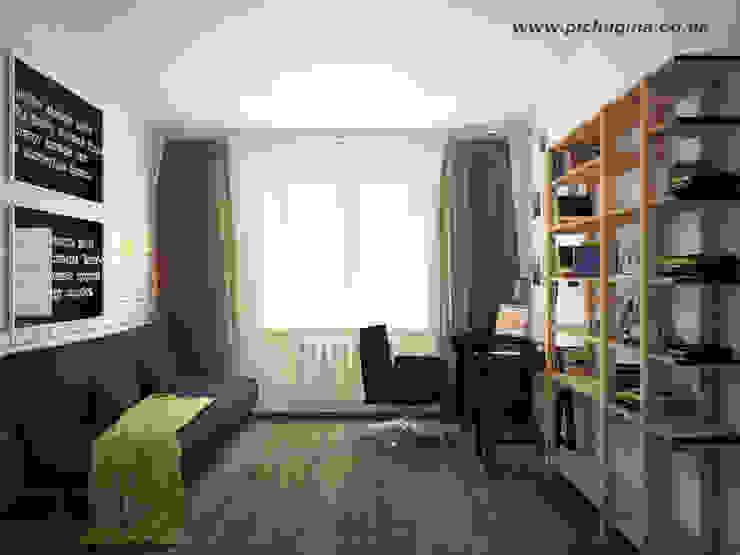 Дом, 180 м.кв. Рабочий кабинет в стиле модерн от Tatyana Pichugina Design Модерн Кирпичи