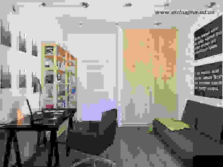 Дом, 180 м.кв. Рабочий кабинет в стиле модерн от Tatyana Pichugina Design Модерн