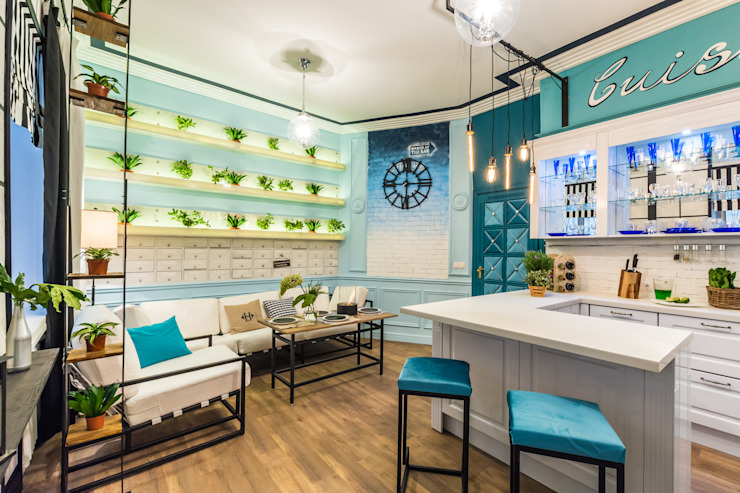 Tony House Interior Design & Decoration Kitchen Turquoise