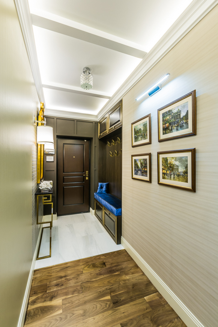 КВАРТИРА В СОВРЕМЕННОМ СТИЛЕ Коридор, прихожая и лестница в модерн стиле от Tony House Interior Design & Decoration Модерн