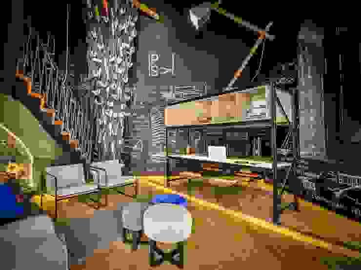 ห้องนั่งเล่น โดย PSV Arquitectura y Diseño, โมเดิร์น