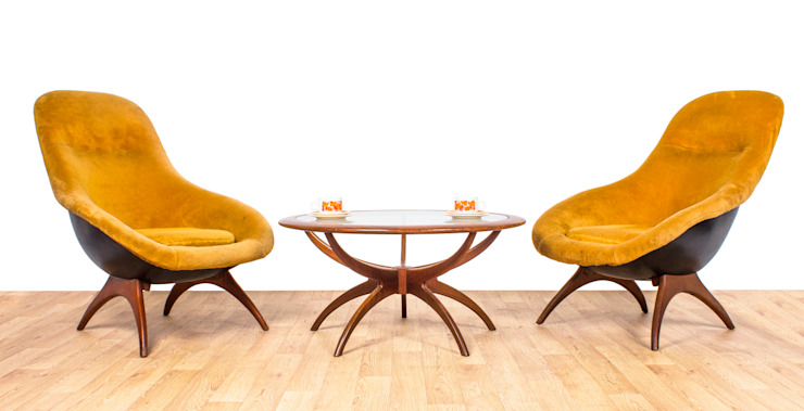 Lurashell Gemini Chair Modern living room by RetroLicious Ltd Modern