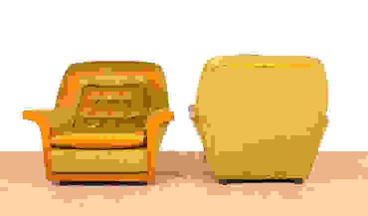 G Plan Retro 60's Gold Velour Armchair Modern living room by RetroLicious Ltd Modern