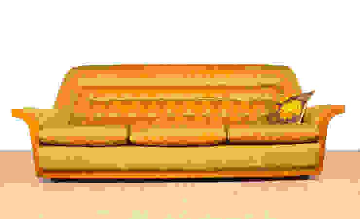G Plan Retro 60's Gold Velour Sofa Modern living room by RetroLicious Ltd Modern