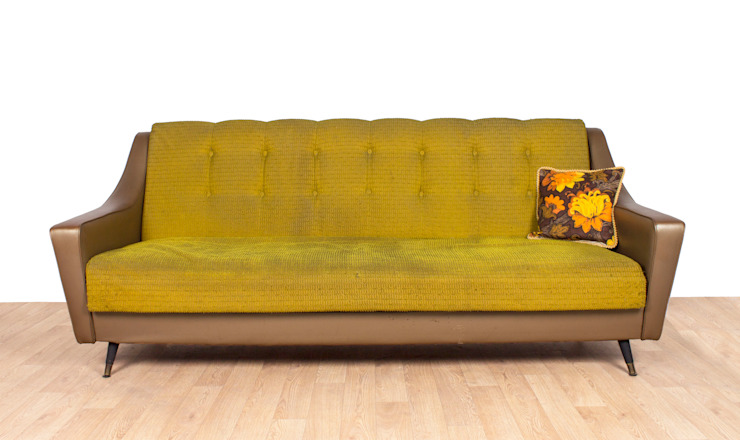 Retro Green and Olive Vinyl Sofabed Modern living room by RetroLicious Ltd Modern