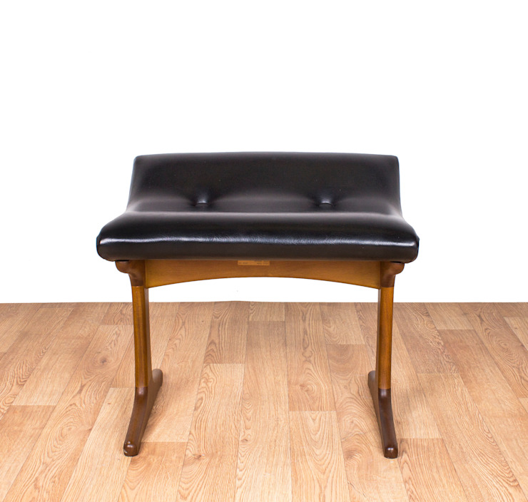 G Plan Black Vinyl Stool Modern living room by RetroLicious Ltd Modern