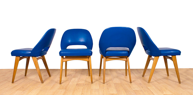 Electric Blue Ben Chairs Modern dining room by RetroLicious Ltd Modern