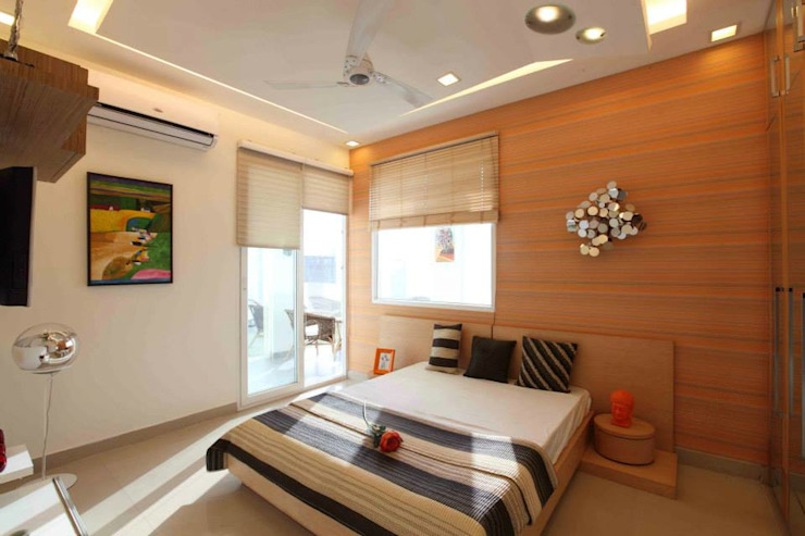 SAMPLE FLAT Modern style bedroom by Spaces Architects@ka Modern