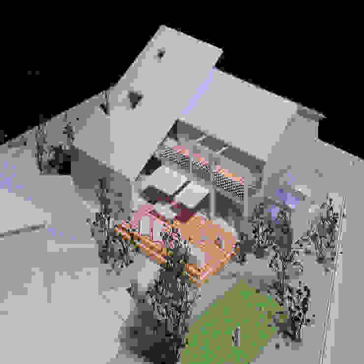 デッキテラスの家(リフォーム): ユミラ建築設計室が手掛けた現代のです。,モダン