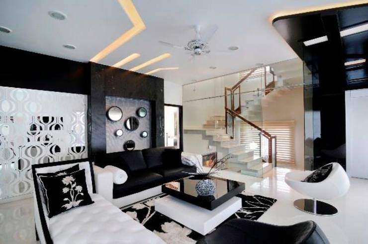 JAIPUR HOUSE Modern living room by Spaces Architects@ka Modern