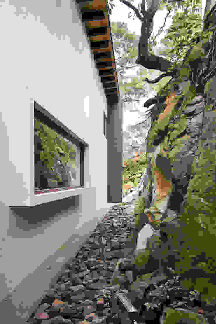 La casa en el bosque Paredes y pisos de estilo moderno de EMA Espacio Multicultural de Arquitectura Moderno