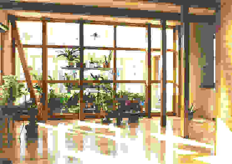 温室のある北国の家 モダンスタイルの 温室 の ユミラ建築設計室 モダン