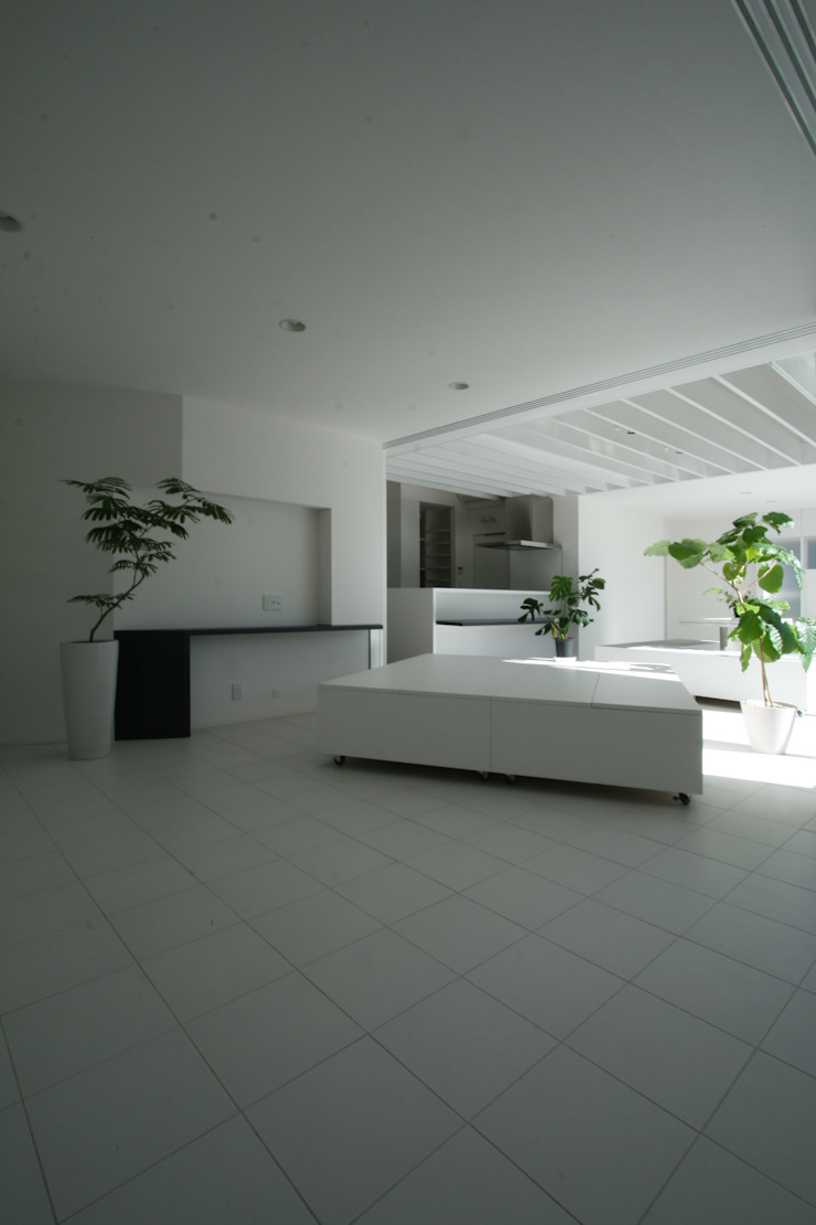Modern living room by 伊波一哉建築設計室 Modern Wood Wood effect