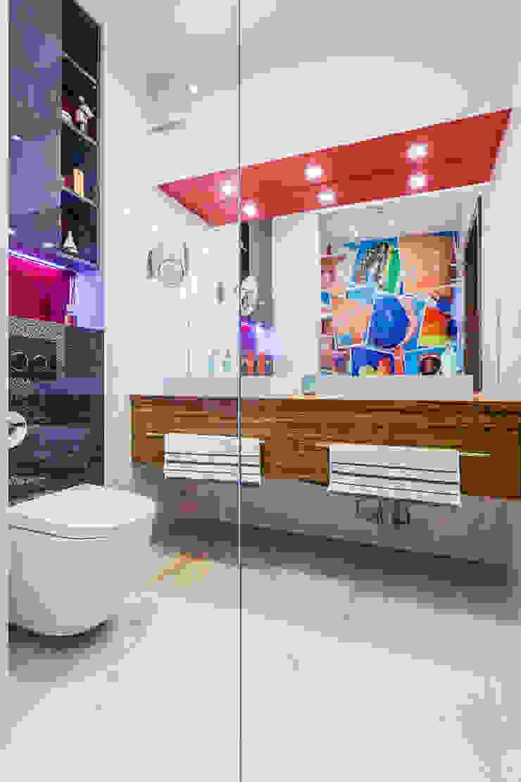 mieszkanie Ochota, Warszawa Nowoczesna łazienka od Kameleon - Kreatywne Studio Projektowania Wnętrz Nowoczesny