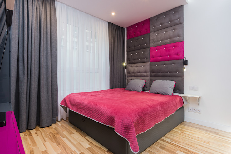 mieszkanie Ochota, Warszawa Nowoczesna sypialnia od Kameleon - Kreatywne Studio Projektowania Wnętrz Nowoczesny